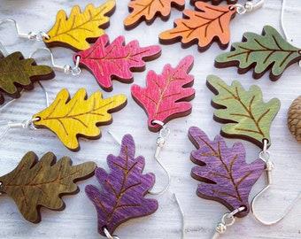 Autumn Wood Earrings