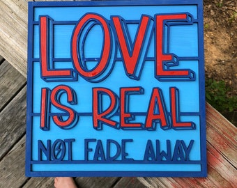 DIY, Paint Your Own, Love is Real sign Kit | Paint Party