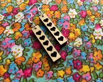 Juliet Laser Cut Wood Earrings