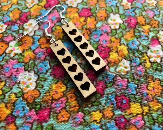Featured listing image: Juliet Laser Cut Wood Earrings