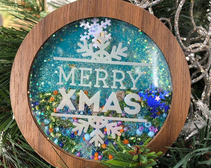 Featured listing image: Merry Xmas Shaker Ornament