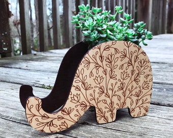 Wooden Desk Organizer Elephant