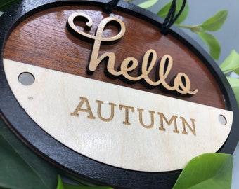 Hello Seasonal Door Sign
