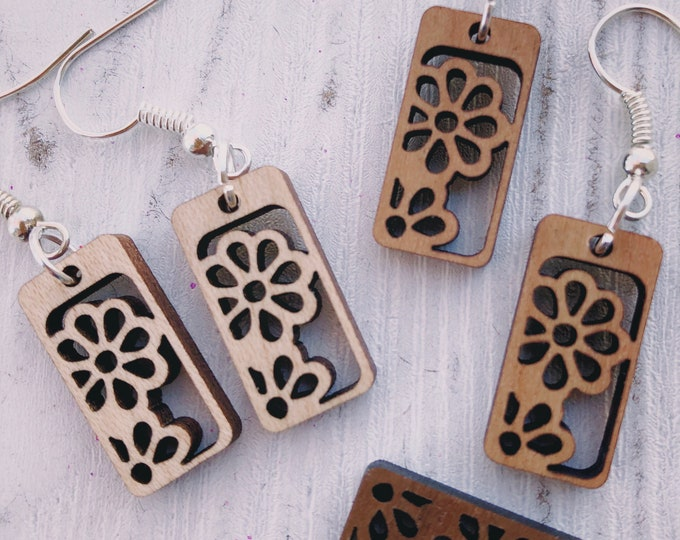 Featured listing image: Ingrid Wood Earrings