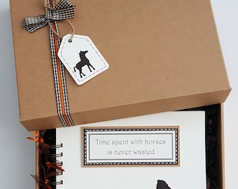 """Horse lover gift - horse scrapbook - pony lover gift - horse themed gift - horse mini album - pony themed gift - 8""""x 6"""" Memory Book"""