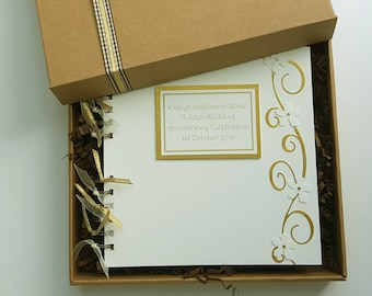50th Anniversary Guest Book Golden Wedding Memory Book Etsy