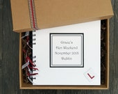 Hen party memory book, Bridal shower gift, 8 quot x 8 quot handmade personalised scrapbook in gift box