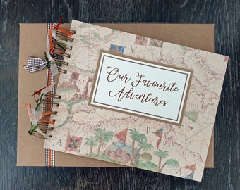 """Our Adventure Book, 10""""x8"""" handmade personalised scrapbook in gift box"""