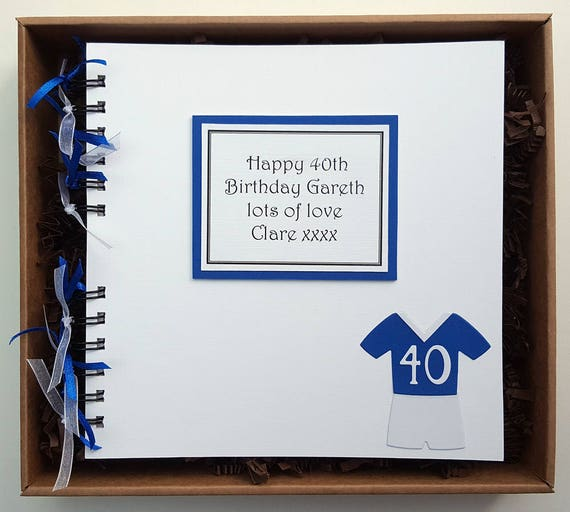 male birthday guest book football team personalised gift etsy