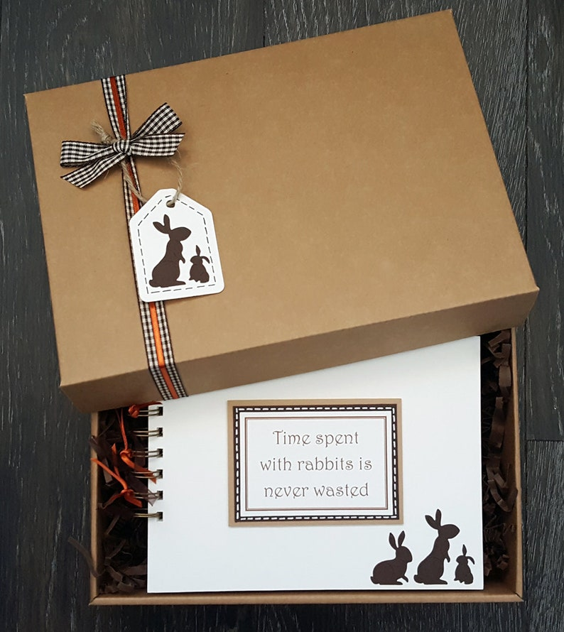 Rabbit lover gift  rabbit scrapbook  bunny lover gift  image 1