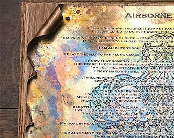 Copper Airborne Creed Scroll