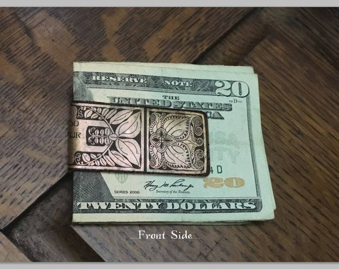 Personalized Monogram Money Clip - Wedding Keepsake - Money Clip For Women - Personalized Gifts For Her - Womens Money Clip