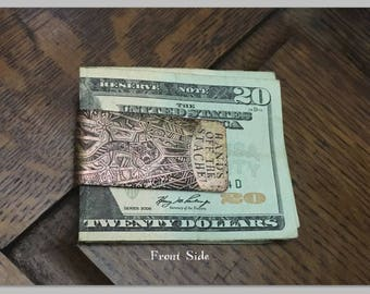 Personalized Monogram Money Clip - Father's Gift - Groomsmen Gift - Mens Money Clip - Custom Copper Money Clip - Personalized Gifts For Him