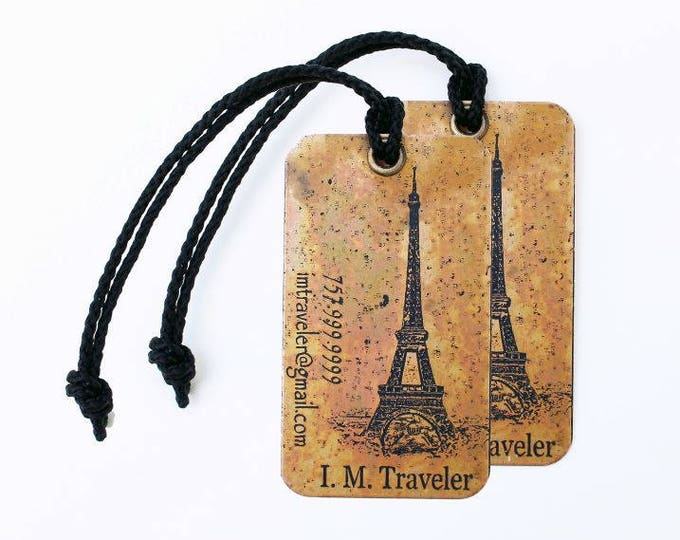Luggage Tag Personalize Set of two (2) tags, Engagement Gift For Bride and Groom, Mr and Mrs Luggage Tags, Anniversary, Wedding Shower Gift