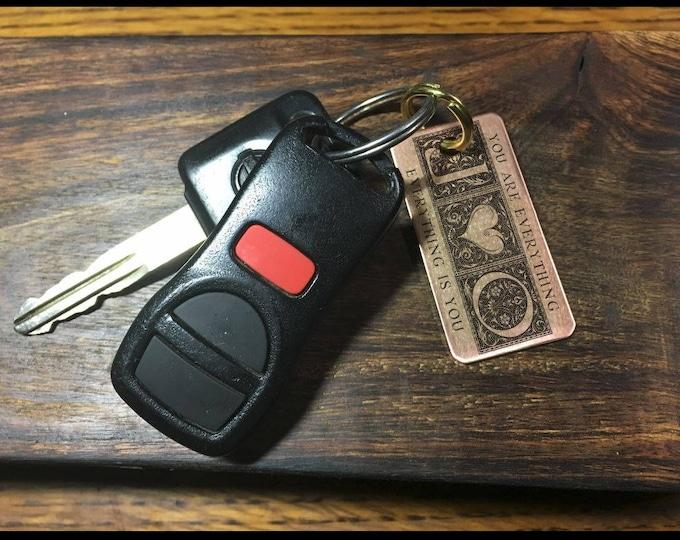 Couples Custom Keychains, Personalized Keychain, Wedding Keepsake, 7 Year Anniversary, Monogram, Dog Tags, Wedding gifts for couple