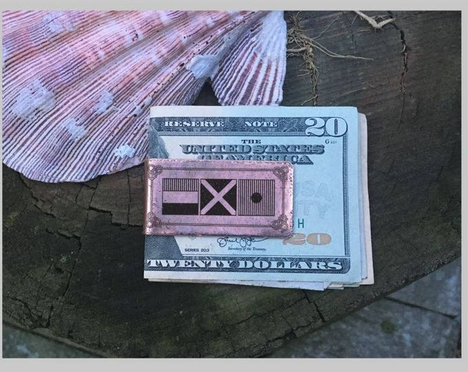 Personalized Monogram Money Clip - Groomsmen Gift - Mens Money Clip - Custom Copper Money Clip - Personalized Gifts For Him