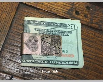 Personalized Monogram Money Clip - Money Clip For Women - Custom Copper Money Clip - Personalized Gifts For Her - Womens Money Clip