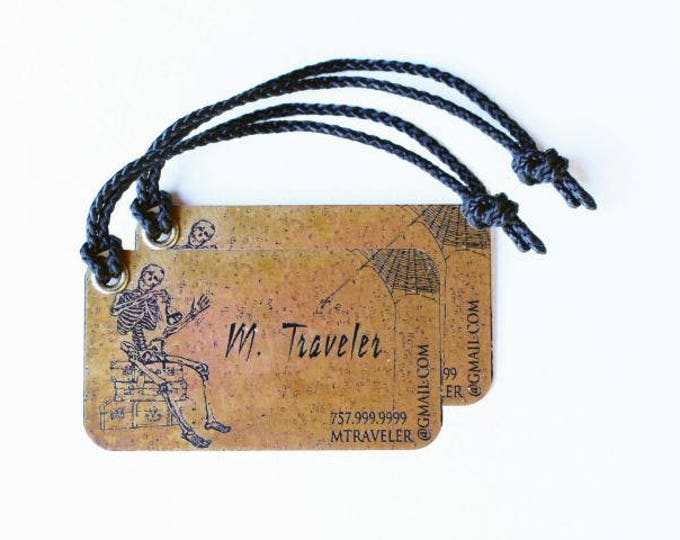 Set of two (2) Personalized Metal Luggage Tags - Custom Tags - Travel Group Tags - Luggage ID Tag - Traveler