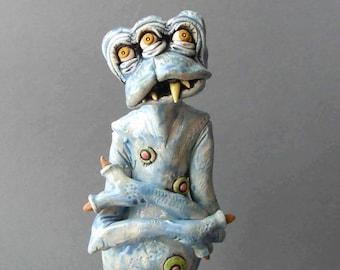 "Ice Blue, Multi-Eyed, Lovable Monster: ""Chill"""
