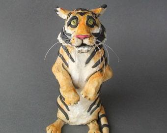 Tiger Ceramic Animal Sculpture