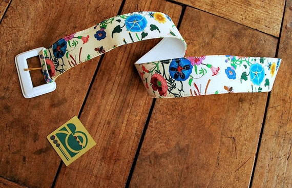 Gucci Iconic Floral 70's Print Belt - image 2