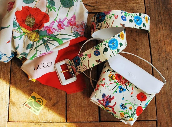 Gucci Iconic Floral 70's Print Belt - image 5