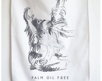 Orangutan Palm Oil Free Cotton Tea Towel