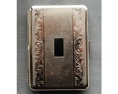 Munich Slim Cigarette Case Metal Wallet, Vintage New Old Stock Made in Germany by Hansaware 843 N 81