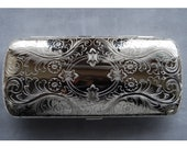 Eyeglass Case Dresden Elegant German Silver Travel Case, Vintage New Old Stock Made in Germany by Hansaware 4060 N 85