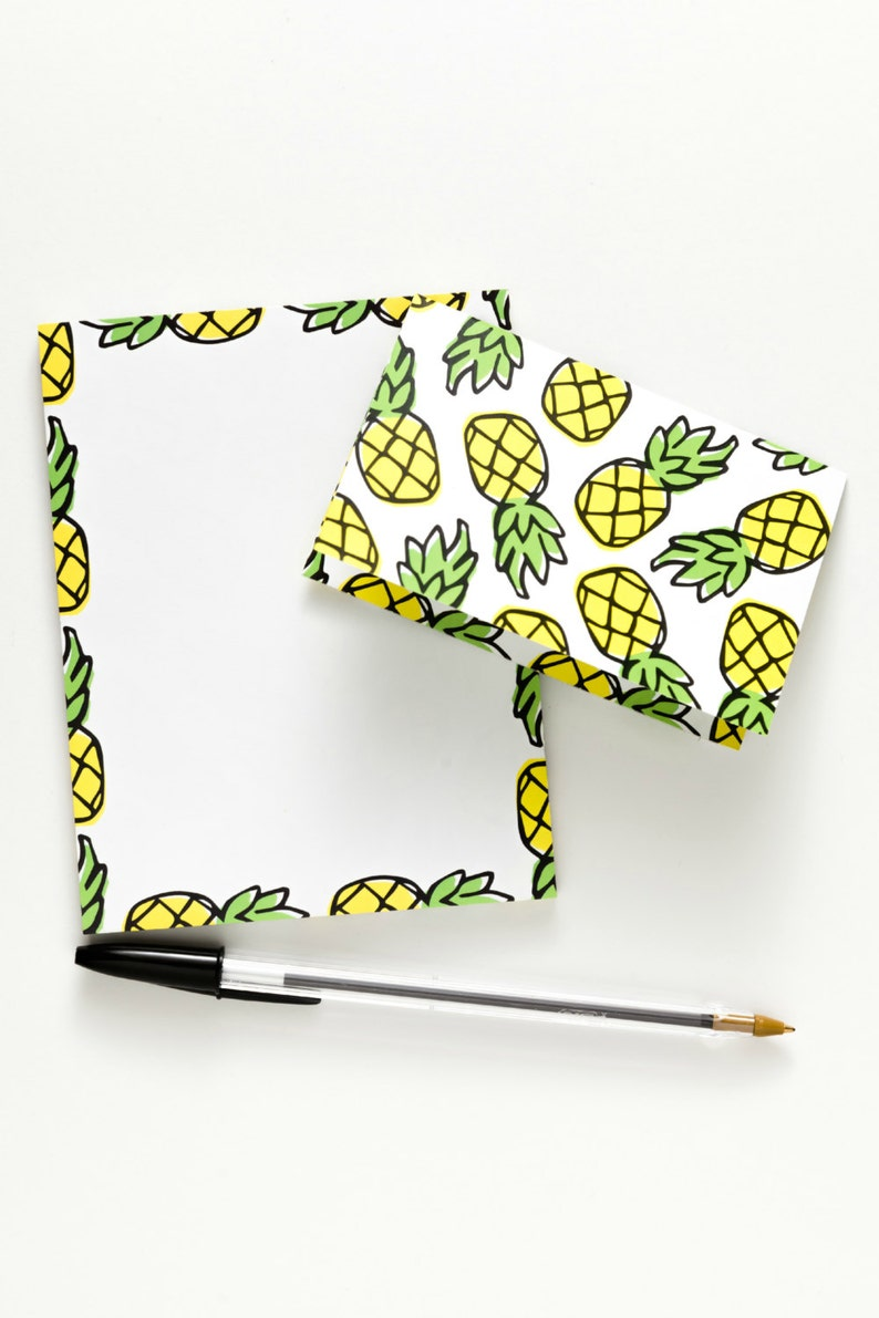 Pineapple Notepad & Notecards All-In-One image 0