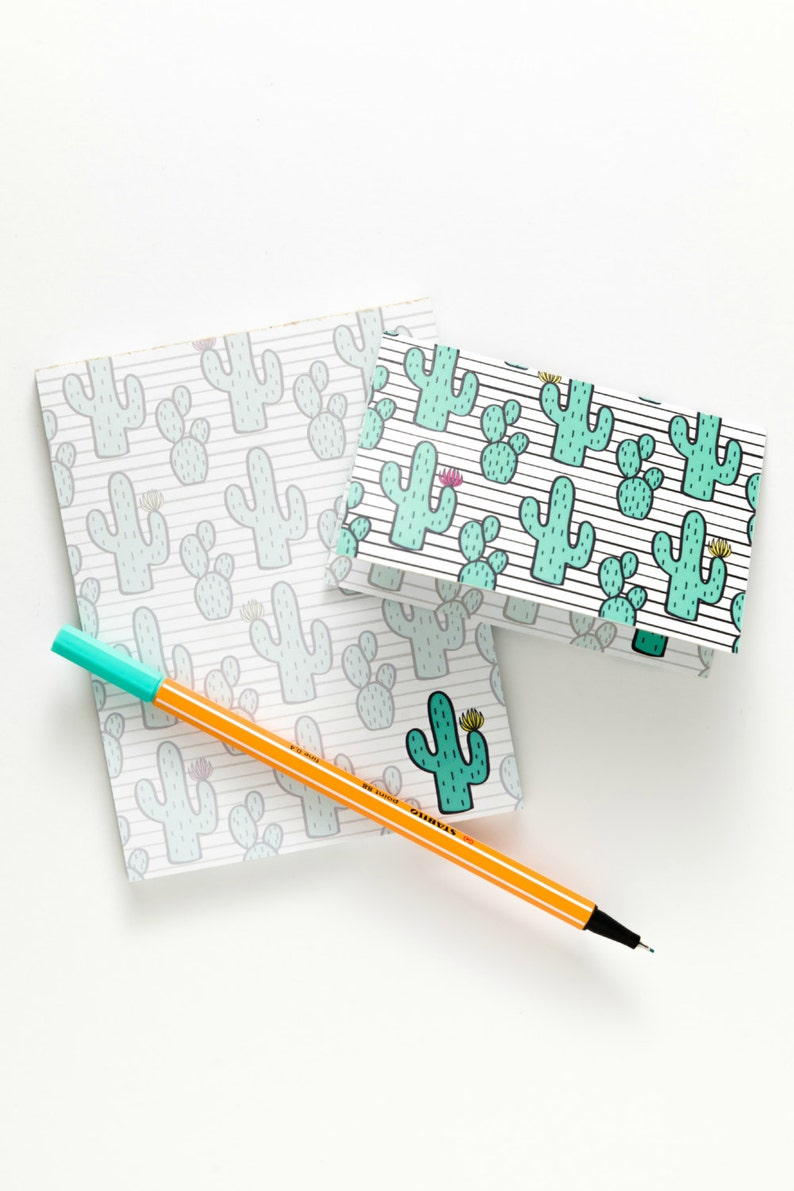 Cactus Notepad & Notecards All-In-One image 0