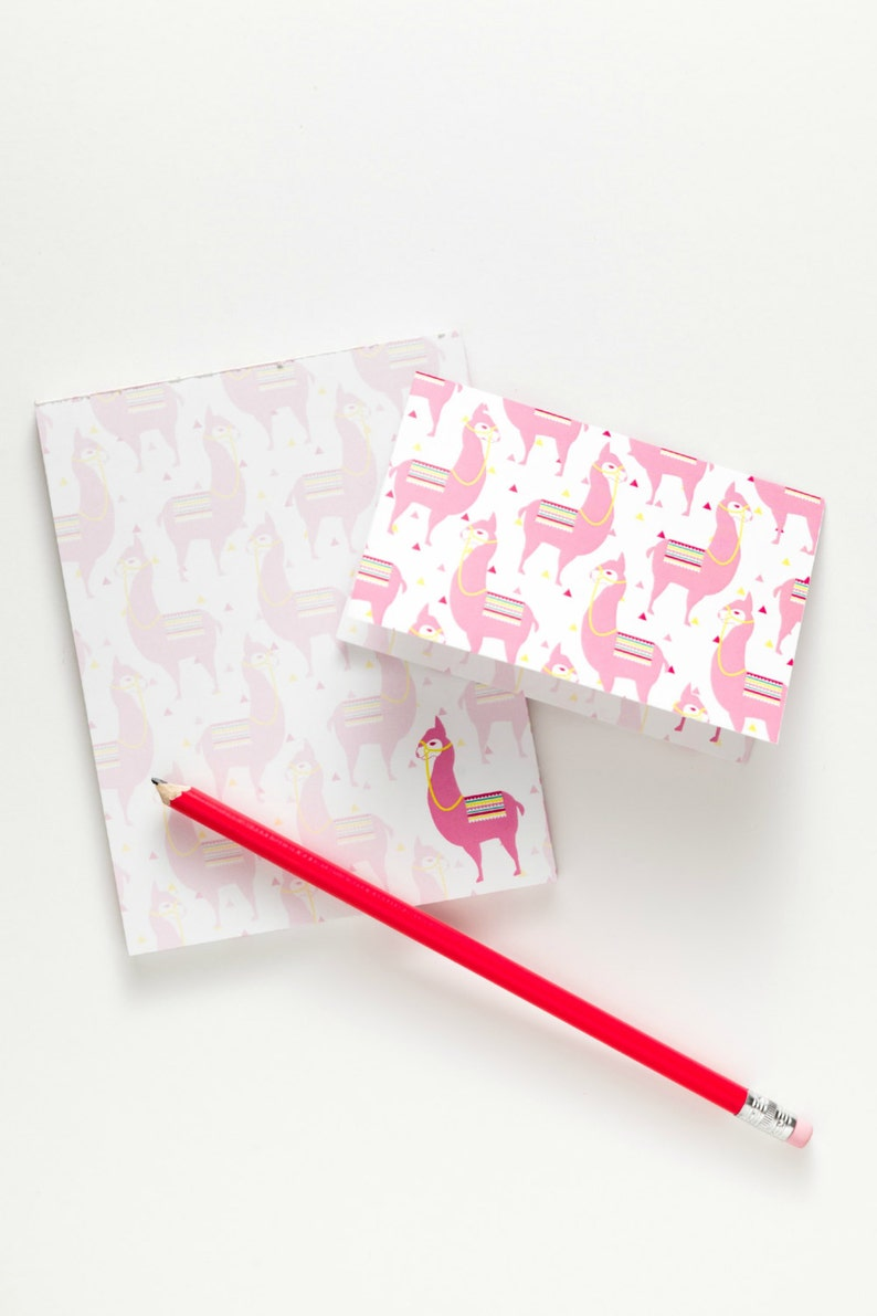Llama Notepad & Notecards All-In-One image 0