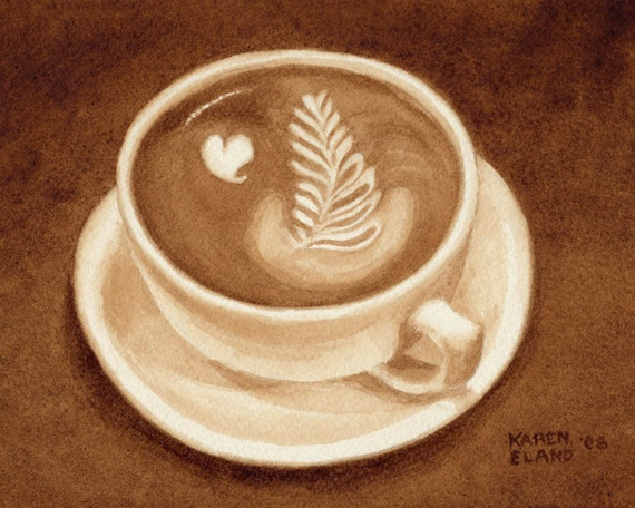 Coffee Art Design Painting