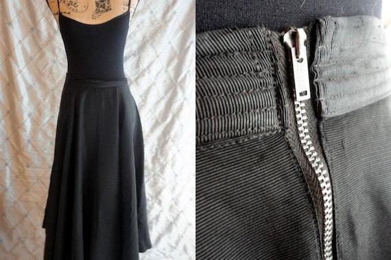 20s 30s Skirt //  Vintage 20s 30s Black Maxi Skirt