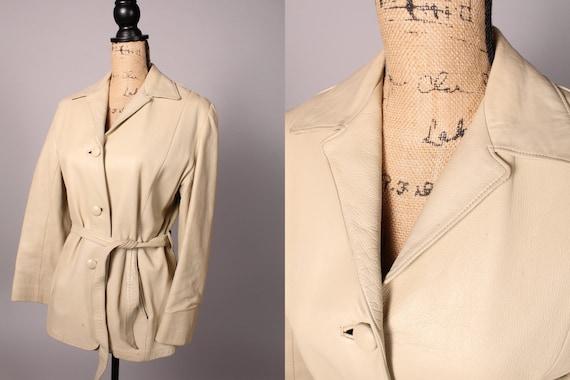 40s 50s Jacket //  Vintage 40s 50s Bone Bisque Lea