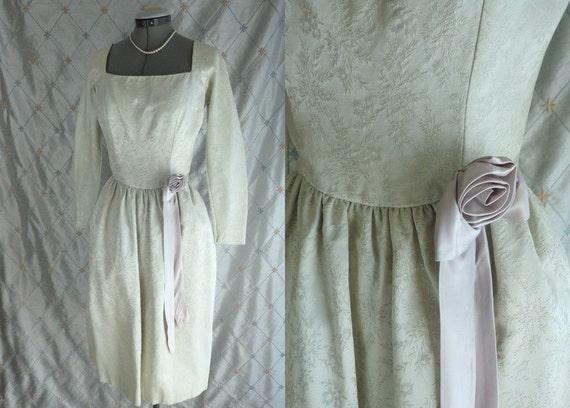 Vintage 50s Dress// Vintage 1950s Pale Green Jacqu