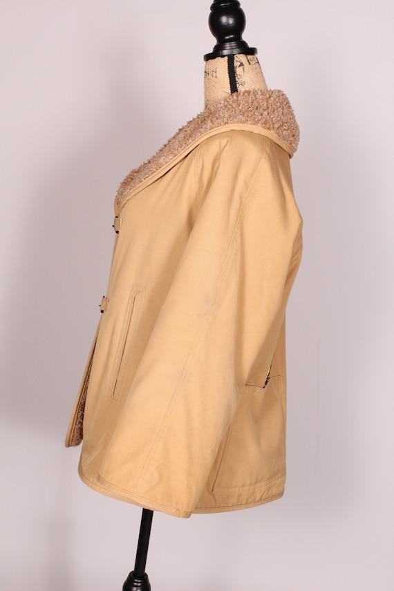 Bonnie Cashin //  Vintage 70s 80s Tan Canvas Coat… - image 6