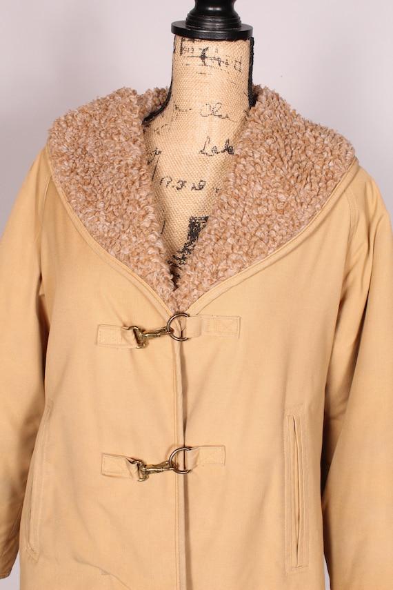 Bonnie Cashin //  Vintage 70s 80s Tan Canvas Coat… - image 4