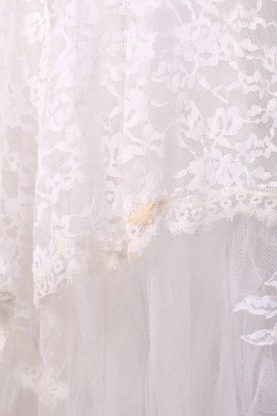 50s 60s Wedding Dress //  Vintage 50s 60s White L… - image 9