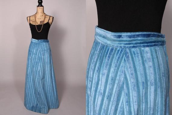 Reserved  for B. Maxi Skirt //  Vintage 70s Light