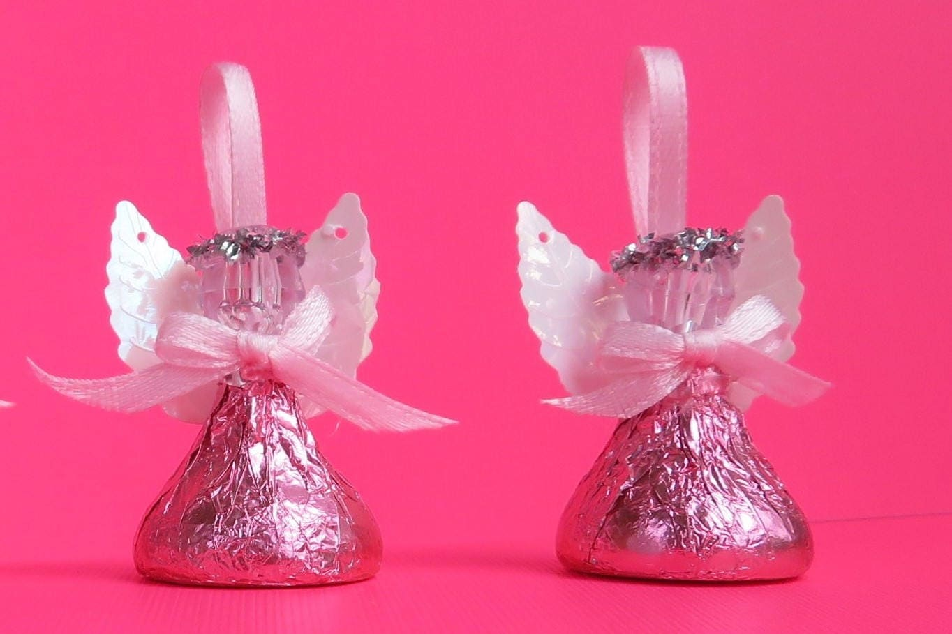 48 PINK Chocolate Candy Angels First Communion Bridal