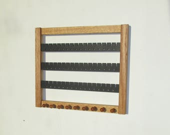 Earring Holder,  Holds 40 - 50 pairs , Jewelry Organizer,  NEW! oak, Earring Storage, Jewelry Display, FREE SHIPPING