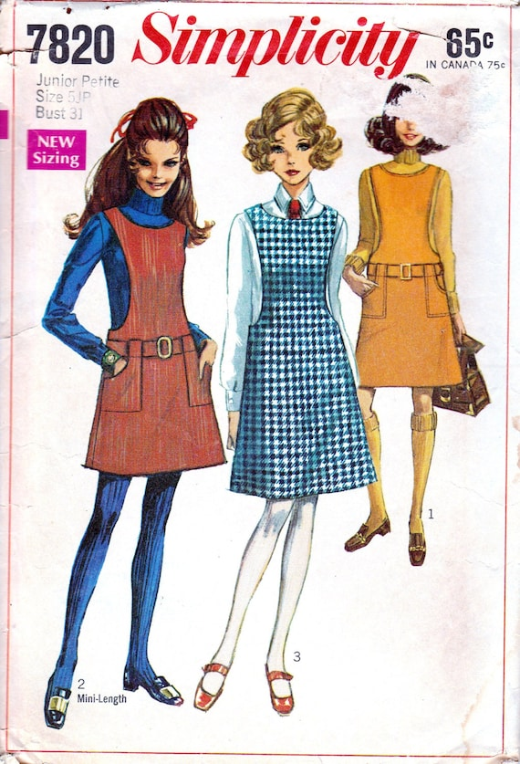 1960er Jahre Schnittmuster Jumper Muster Schule Mädchen | Etsy