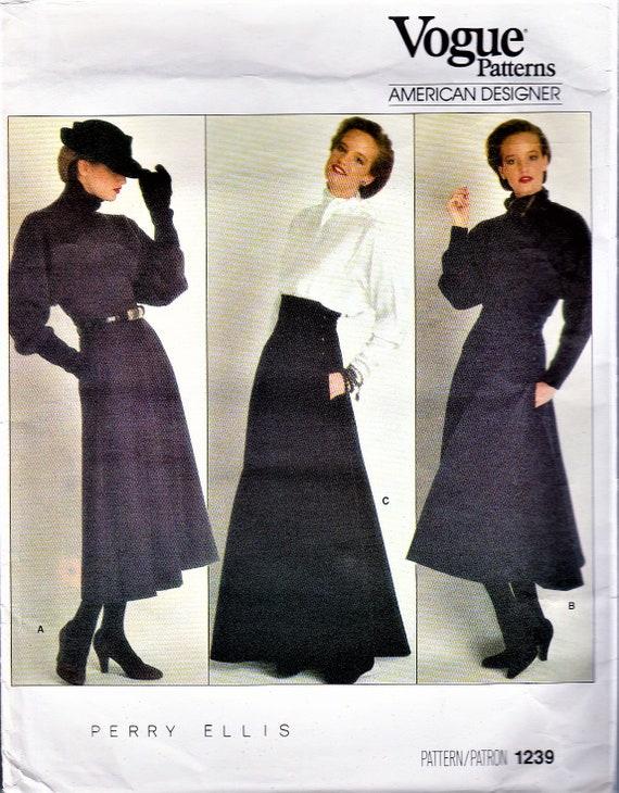 Vintage Vogue Sewing Patterns 40s Vogue 40 Skirt Pattern Etsy Adorable Vogue Sewing Patterns
