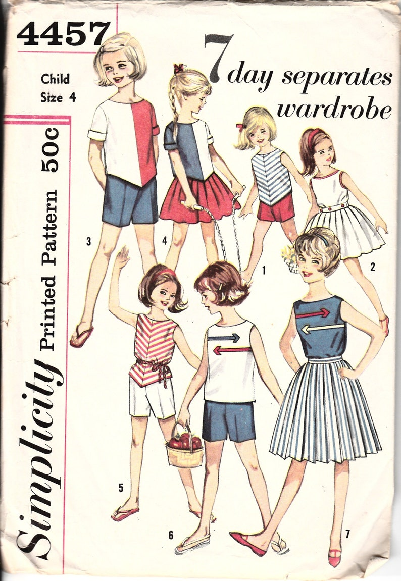 b899a6f5702 1960s Vintage Sewing Patterns Vintage Girls Clothes 60s