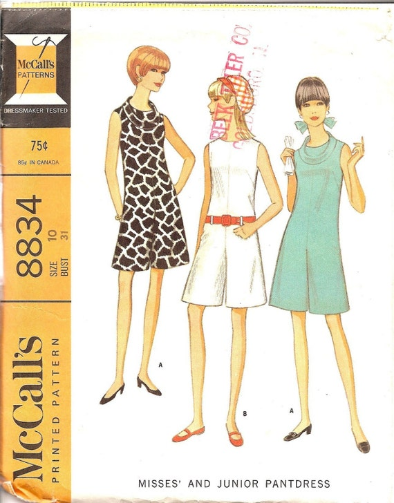 1960er Jahre Schnittmuster Koulots Hose Kleid ärmellos   Etsy