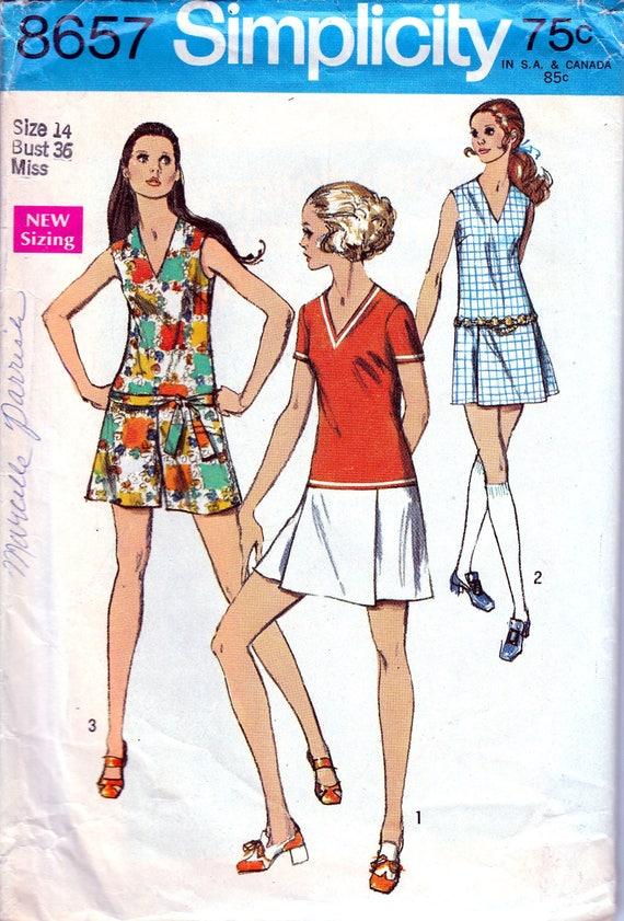 Schnittmuster Der 1960er Jahre 60er Jahre Mini Hose Kleid Etsy