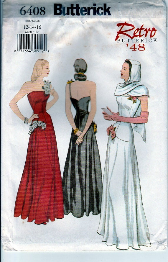 1940s Sewing Patterns Womens Gown Re Printed 40s Clothing | Etsy