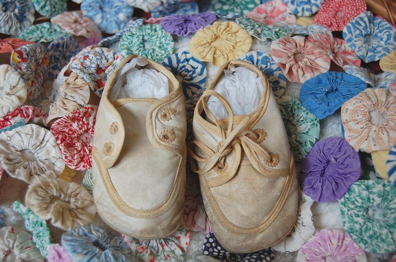 5a238e96971ea Vintage Baby Boy Shoes, Trimfoot Baby Deer Shoes, Baby Photo Prop, Baby  Photography Prop, Baby Doll Shoes, Gift for Baby, Vintage Baby Decor