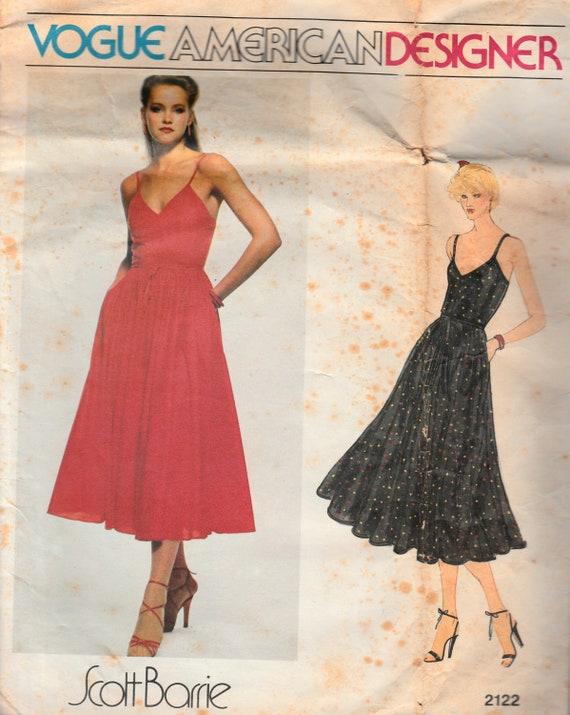 1970er Jahre Vogue Kleid Schnittmuster Schultergurt | Etsy